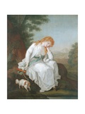 Possibly Maria of Moulines from Sterne's 'Sentimental Journey'  1766-81