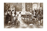 Wolfgang Amadeus Mozart and His Sister Maria Anna Play Music before Maria Theresa at the Viennese C
