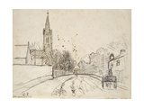 Recto: Study of Upper Norwood