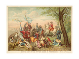 Louis XV of France and Marshal De Saxe at the Battle of Fontenoy  1745