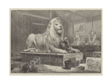 Sir Edwin Landseer Modelling the Lions for Trafalgar-Square