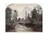 Taysayac  Half Dome  4967 Ft  Yosemite  1861 (Mammoth Plate Albumen Print)