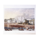 The British Residency at Hyderabad  1813 ; 1830 (Hand-Coloured)