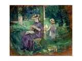 Woman and Child in a Garden  C1883-84
