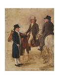 Three Worthies of the Turf at Newmarket  C1804: John Hilton  Judge of the Canvas)