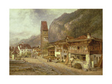 Unterseen  Interlaken: Autumn in Switzerland  1878