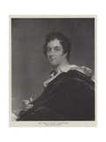 Lord Byron  at the Age of Thirty-Four