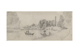 Study of a River Landscape with Boats  1863 - 1864