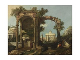 Ruins and Figures  Outskirts of Rome Near the Tomb of Cecilia Metella  C1750-1775