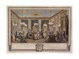 Le Bal Pare a Monsieur De Villemorien Fila  Engraved by L Provost
