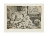 Mother and Child with Skull and Hourglass  C 1528-1530