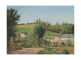 Hamlet Near Pontoise; Hameau Aux Environs De Pontoise  1872