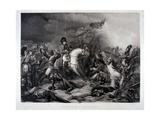 Napoleon at Waterloo  by Jean Pierre Marie Jazet (1788-1871)  C1870 (Mezzotint)