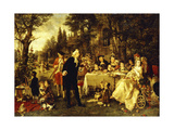 Wedding Party in the Garden of Fontainebleau
