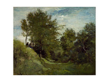 Landscape with Figures Seated on a Bank  Late 1870S