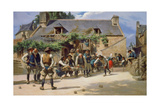 The Game of Boules at Pont-Aven  1869