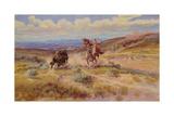 Spearing a Buffalo  1925
