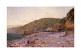 Among the Shingle at Clovelly  1864