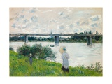 The Promenade with the Railroad Bridge  Argenteuil  1874