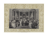 The Christening of the Princess Royal in the Throne-Room at Buckingham Palace  1841