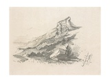 Cliff at Ste Adresse  1857