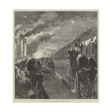The Prince of Wales Embarking at Dover for India