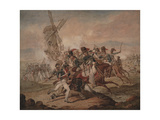 7th Queen's Own Hussars under Sir Edward Kerrison  Charging the French at Quatre Bras  1818