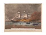 Burning of the Clipper Ship  'Golden Light'