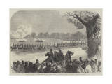 Volunteer Review in Windsor Park on Whit Monday  Charge of Yeomanry Lancers and Mounted Artillery