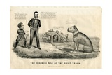 The Bull Dog on the Right Track  1864