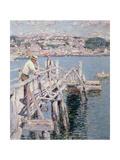Dock Scene  Gloucester  1896