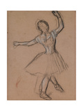 Dancer on Stage and in Motion  C1880-85 (White  Black and Red Fabricated Chalk)