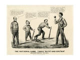 The National Game: Three Outs and One Run  Abraham Winning the Ball  1860