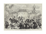 British Occupation of Cyprus  Triumphal Entry of Captain Swaine into Levconico