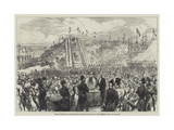 French Ministers of State Laying the Foundation-Stone of New Harbour Works at Boulogne