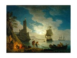 A Harbor in Moonlight  1787