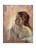 Study of a Girl's Head  Late 1870s