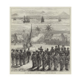 The British Fleet at San Jose  Guatemala  Saluting the British Flag