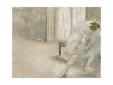 Dancer Seated  Readjusting Her Stocking  Danseuse Tirant Son Maillot (La Precaution)  C 1882-1885
