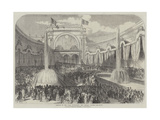 Opening of the Paris Exhibition  the Central Garden