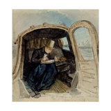 William Dyce (1806-64) in a Gondola Sketching in Venice  1832