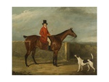John Hall Kent in Hunting Attire Seated on a Horse  1825