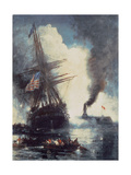 The Merrimac Sinks the Cumberland