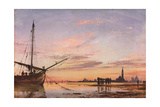 View across the Lagoon  Venice  Sunset  1850