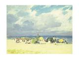 Purple Beach Scene