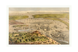Port of New York  Birds Eye View from the Battery Looking South  Circa 1878  USA  America
