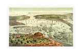 The Port of New York  Birds Eye View from the Battery  Looking South  Circa 1892  USA  America