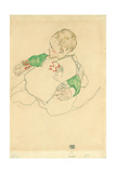 Child with Green Sleeves (Anton Peschka  Jr)  1916 (Gouache and Pencil on Paper)