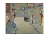 The Rue Monsier with Flags  1878