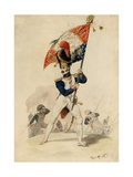 Ensign of the Grenadiers  French Imperial Guard  1817